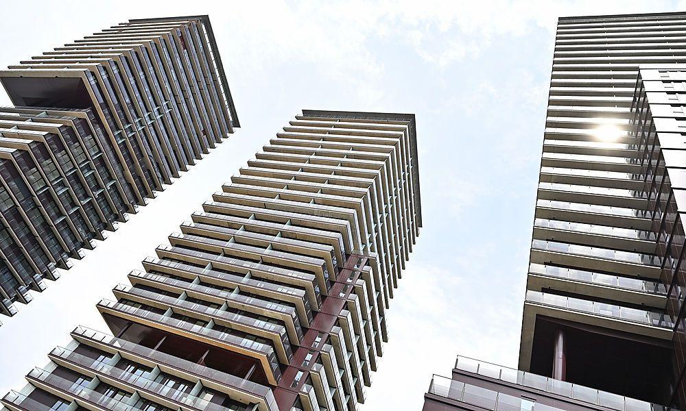 """Projekt """"Triiiple"""": Erster Wohnturm vor Fertigstellung"""